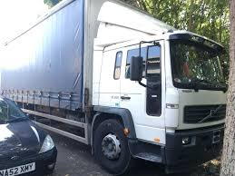 VOLVO FL220 SLEEPER CAB CURTAIN SIDE TRUCK WITH TAIL 18 TON MOT ...