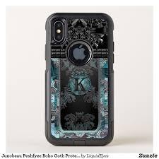 Junobeau Peshfyee Boho Goth Protective Monogram OtterBox muter iPhone X Case