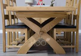 solid oak dining table and chairs ebay uk sale 8 with leaf 4 wood