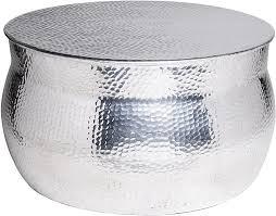 maades wohnzimmertisch couchtisch rund modern aus metall ø 60cm marokkanischer runder vintage tisch aus aluminium für ihre wohnzimmer moderner