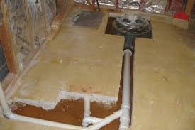 installing new toilet flange in concrete terry plumbing
