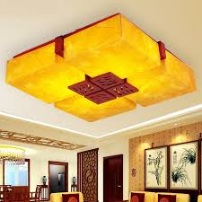Wood Hall Restaurant Dining Room Chinese Style Wooden Antique Lamps Ceiling Parchment Bedroom Lamp