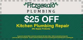Coupons Fitzgerald Plumbing of Lakewood CA