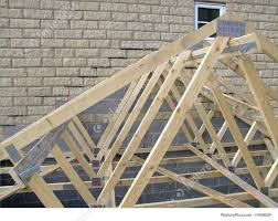 100 House Trusses Garage Roof On Gable End Of Housetruss Construction