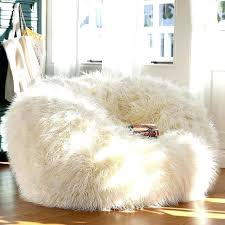 Fluffy Vanity Chair Big Adorable White Fur Bean Bag For Teen Girl Extraordinary