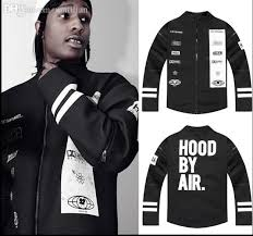 Fall Hip Hop Baseball Jersey Fashion Brand Hood By Air Mens Designer Clothes Black Quilted Cool Jackets For Men Urban Clothing Hba Jacket Hockey Cbj
