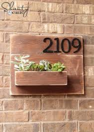 5 Address Number Wall Planter