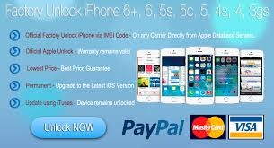 IMEI Unlock iPhone 6 Plus 6 5S 5C 5 4S 4 Factory Unlocking Service