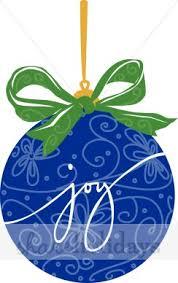 Joy Christmas Tree Ornament Blue