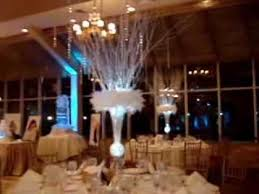 Winter Wonderland Themed Centerpieces Sweet 16 Candelabra At The Venetian Yacht Club Babylon NY