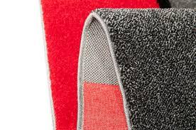 designer teppich wohnzimmerteppich karo rot grau creme schwarz