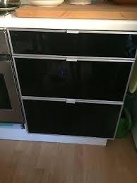küchen unterschrank ikea faktum 60cm fronten glas schwarz