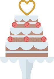 Wedding or birthday cake sweet dessert homemade pie Chocolate cream brownie cake topped pie isolated with white slice and cream flowers decorated vector
