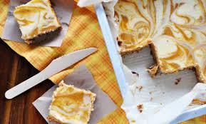 Marbled Pumpkin Cheesecake Bars by Pumpkin Cheesecake Bars Foodess