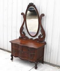 Tiger Oak Dresser With Swivel Mirror by 1900 1910 Oak Old Finish Larkin Oval Mirror Claw Foot Low Boy