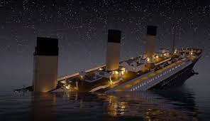 titanic sinking animation 2012 real time animation of the sinking of the titanic geekologie