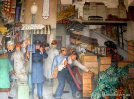city life by victor arnautoff coit tower fresco mural art