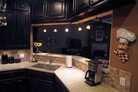 astounding painting kitchen cabinets black with track lighting