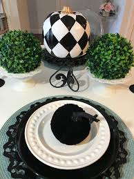 Mackenzie Childs Painted Pumpkins by 2 Faux Ceramic Mackenzie Childs Inspired Halequin Pumpkin