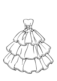 Amazing Dress Coloring Pages 28 For Kids With
