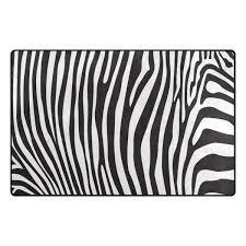 Amazoncom Animal Zebra Print Stripe Area Rug Rugs NonSlip Floor