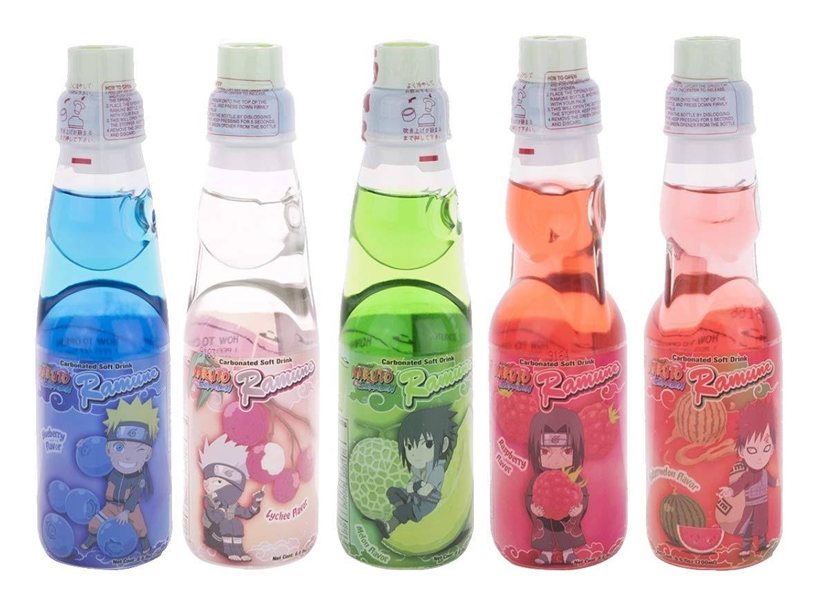 Asian Food Grocer Ramune Soda Blueberry Flavor Naruto Shippuden 200ml