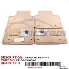07 12 es350 lexus original factory oem pt206 33100 09 camel floor