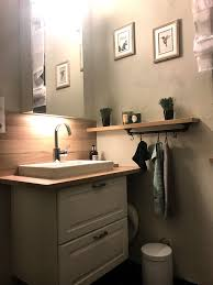 ikea hack gäste wc gäste wc badezimmer holz ikea inspiration