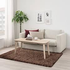 vindum teppich langflor braun 133x180 cm ikea österreich