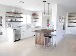 Reclaimed Wood Floating Kitchen Shelves