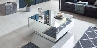 couchtisch spiegel mila silber quadratisch