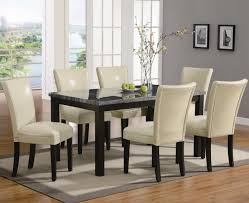100 Black Leather Side Dining Chairs Faux Parsons Chair Solid Rubber Wood Legs Upholstered