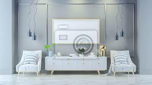 fototapete luxus modernen wohnzimmer interieur weißer lounge sessel mit