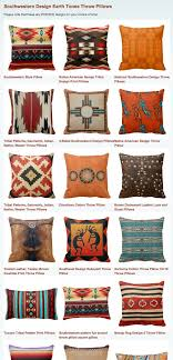 Southwestern Design Earth Tones Throw Pillows Southwest Decor