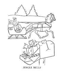 One Horse Sleigh Colouring Pages