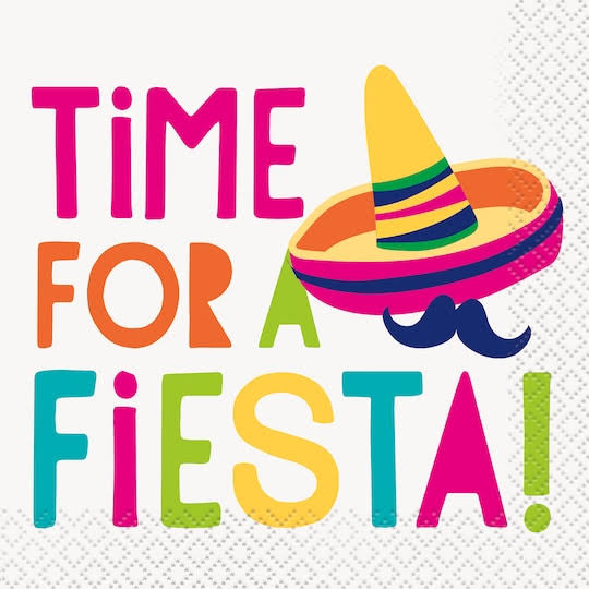 Time for A Fiesta Beverage Napkins 16ct