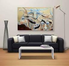 details zu büro dekorative kuh schöne leinwand wandbehang landschaft wohnzimmer