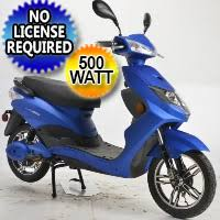 500 Watt Speedster Electric Moped Boom Scooter W Pedals
