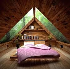 gemütliches schlafzimmer mit viel holz und traumhaftem