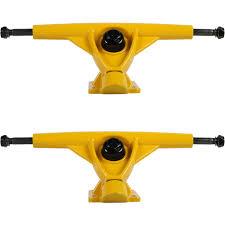 100 Downhill Longboard Trucks Havoc 181mm Yellow Set Of 2