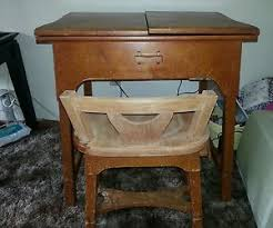 sears kenmore sewing machine in cabinet with chair ebay