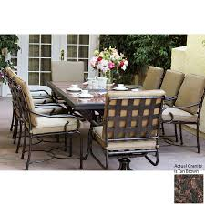 Darlee Patio Furniture Quality by Shop Darlee Malibu 9 Piece Antique Bronze Stone Patio Dining Set