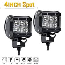 100 Led Work Lights For Trucks TURBOSII Spot 4In Pods Cube Bumper Grill Offroad