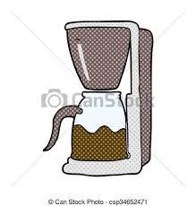 449x470 Freehand Drawn Cartoon Coffee Maker Vectors Illustration