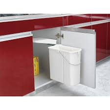 Under Cabinet Trash Can Pull Out by Shop Rev A Shelf 20 Quart Plastic Pull Out Trash Can At Lowes Com