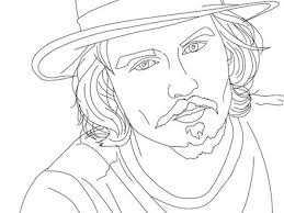 Johnny Depp Coloring Pages Hellokidscom