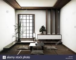 interior design moderne leeren wohnzimmer mit tatami matten