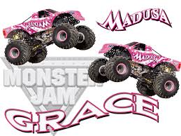Personalized Custom NAME T-shirt Monster Truck Madusa Monster Jam ...