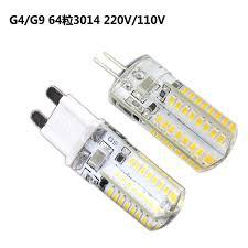 g4led l g9 flat 3w led bulb 220v 110v 64 silicone bead