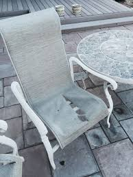Webbed Lawn Chairs With Wooden Arms by Patio Chair Re Build 5 Steps With Pictures